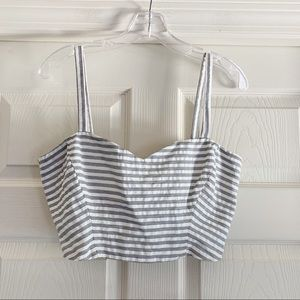 WAYF Striped Crop Top Large C125